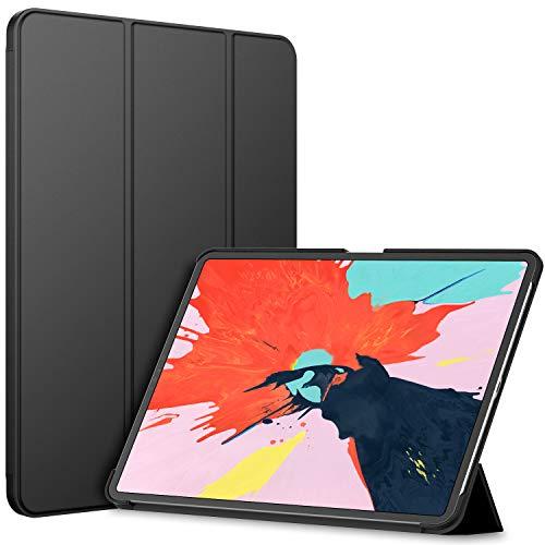 JEDirect Apple iPad Pro 12.9 2018 ケース (2018新モデルのみ対応) オートスリープ機能 (ブラック)