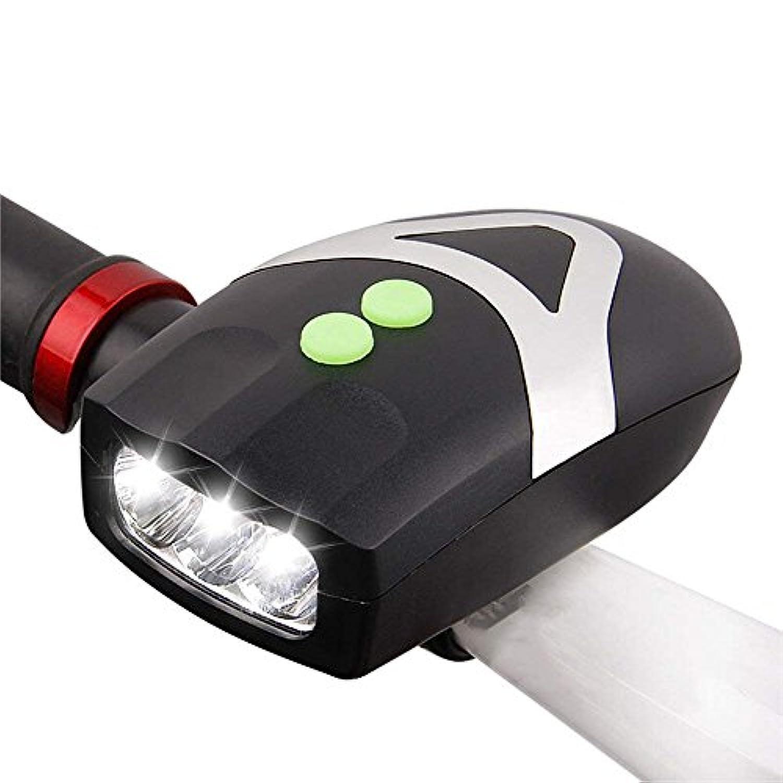 受信機散らす行為MUTANG LED自転車ライトヘッドライト明るいライト懐中電灯90デシベル電子スピーカーマウンテンバイクナイトライドライト