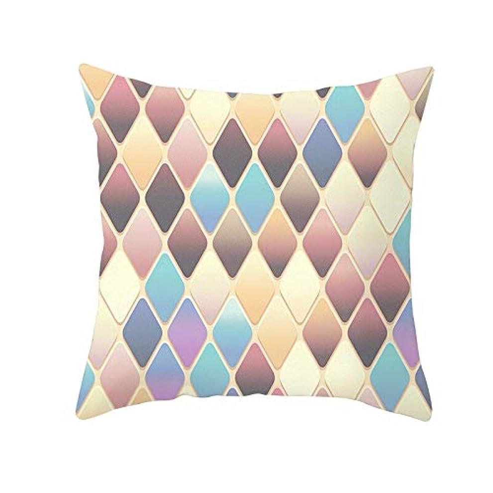 量奪う完璧LIFE 装飾クッションソファ 幾何学プリントポリエステル正方形の枕ソファスロークッション家の装飾 coussin デ長椅子 クッション 椅子