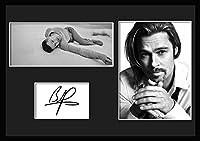 10種類! ブラッド・ピット/Brad Pitt /サインプリント&証明書付きフレーム/BW/モノクロ/ディスプレイ/3W (06) [並行輸入品]