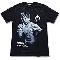 マニーパッキャオ Tシャツ 黒 S/M/L/XLサイズ 6階級制覇 ボクシング ブラック パックマン フィリピン