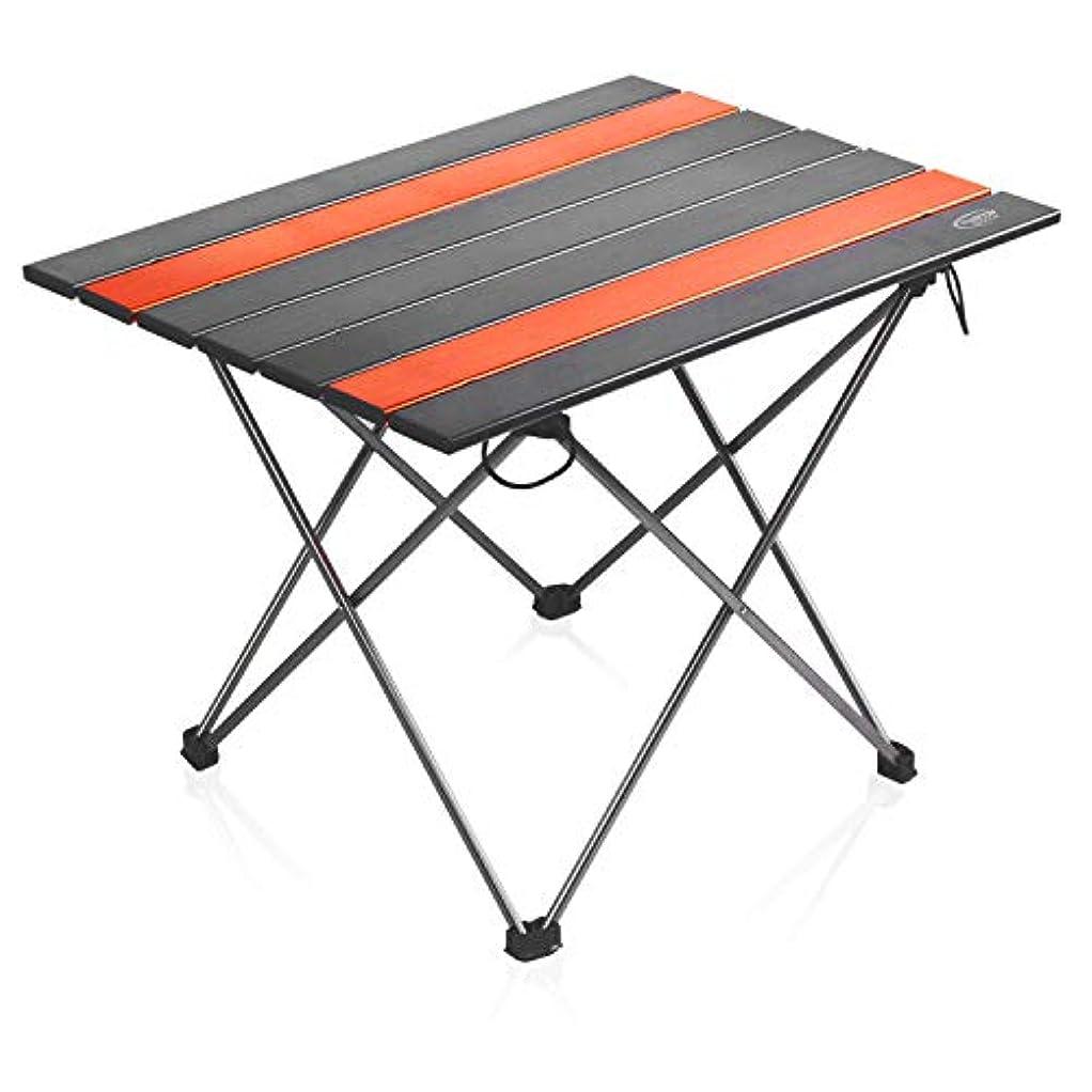 十分に花輪北HaoSheng ロールテーブル アウトドア折りたたみテーブル ウルトラライト コンパクト 超軽量 収納バッグ付き 持ち運びに便利