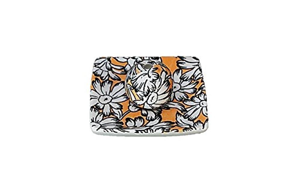 アーサーコナンドイル銀矢印マーガレットオレンジ 小角皿 お香立て 陶器 ACSWEBSHOPオリジナル
