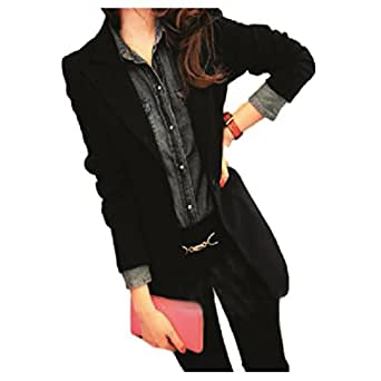 ナナコレクション Nana_Collection 春 秋 テーラード ピークドラペル 肩幅 ボリューム コート ブラック 2XL