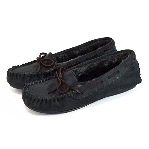 [해외]Shoes-hall8-6272EEE 초경량 넓은 분별 이너 퍼 스웨이드 모카신 실내화 가죽 리본 스웨이드 로퍼/Shoes-hall 8-6272EEE Super lightweight Inner fur sweat easy to wear loose Moccasin slippon leather ribbon suede loafers