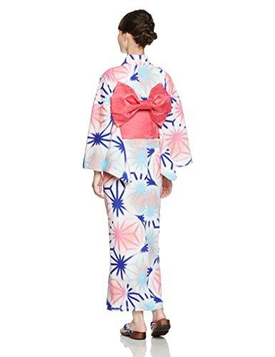 (ディータ)Dita 作り帯仕様 レディース 本格女性浴衣 選べる27柄 すぐにお出かけフルセット 2017年デザイン 浴衣本体(ゆかた)・帯(つくりおび)・下駄(ゲタ)の3点セット+着付けスタイルブック(冊子)の計4点 4:夏の水彩麻しらべ