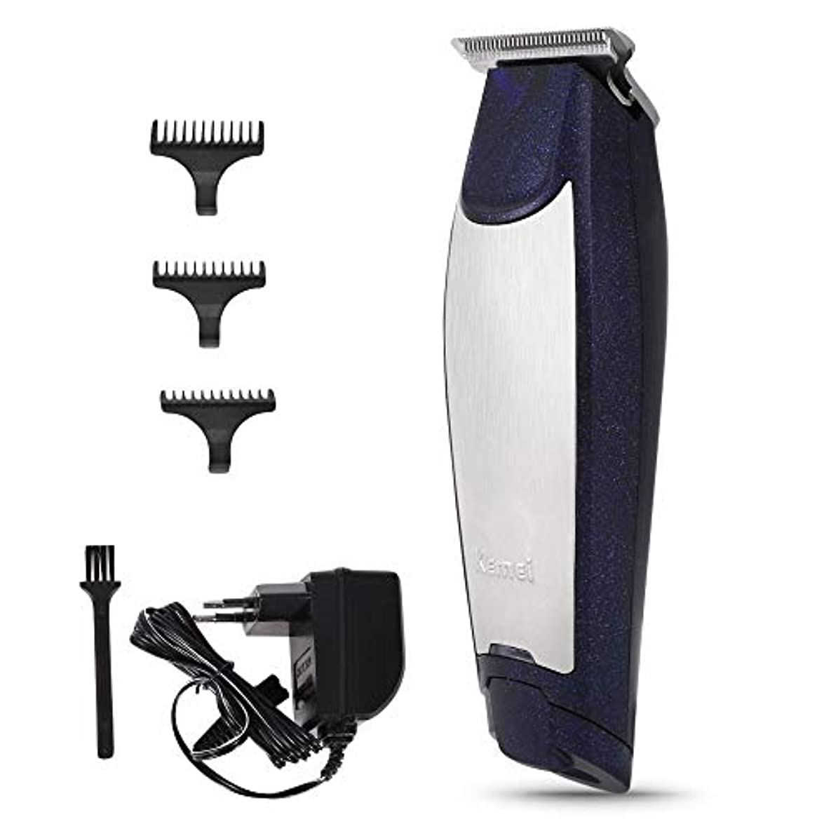 バリカン充電式ヘアカッタークリッピングマシン散髪理髪はさみトリマー付き3ガイドコムズ用男性