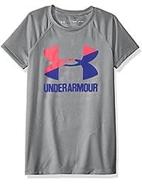 [アンダーアーマー] UA Solid Big Logo SS T ガールズ 1331678