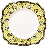 Wedgwood India Square Salad Plate, 8 1/5, Multicolor by Wedgwood
