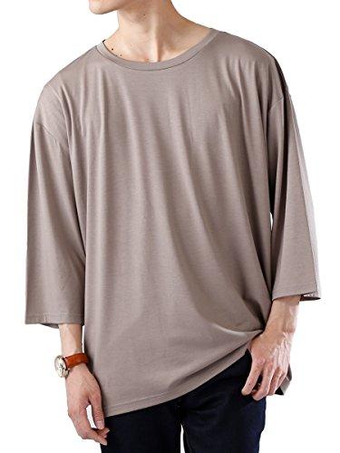 (モノマート) MONO-MART オーバーサイズ カットソー ドロップショルダー サマー BIG Tシャツ 夏 ストレッチ MODE メンズ