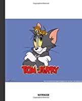 Notebook: Cartoon Tom and Jerry Soft Glossy Cover Graph Paper Pages Book 7.5 x 9.25 Inches 110 Pages