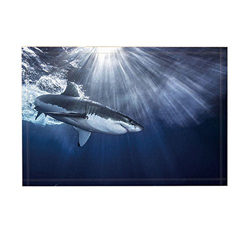 NYmB Oceanicバスラグ、Shark Jaws Swimming Sea Spray Sun...