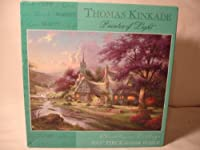 Thomas Kinkade Clocktower Cottageパズル