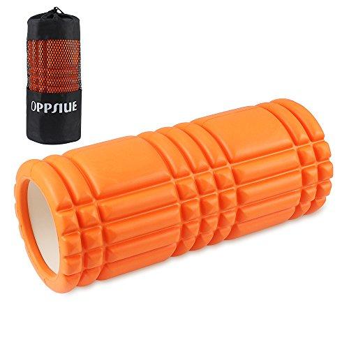 Oppsiueフォームローラー ストレッチローラー ヨガポール 筋膜リリース マッサージ スポーツ リセット用 腰痛・肩コリ・筋肉痛を改善 (オレンジ)