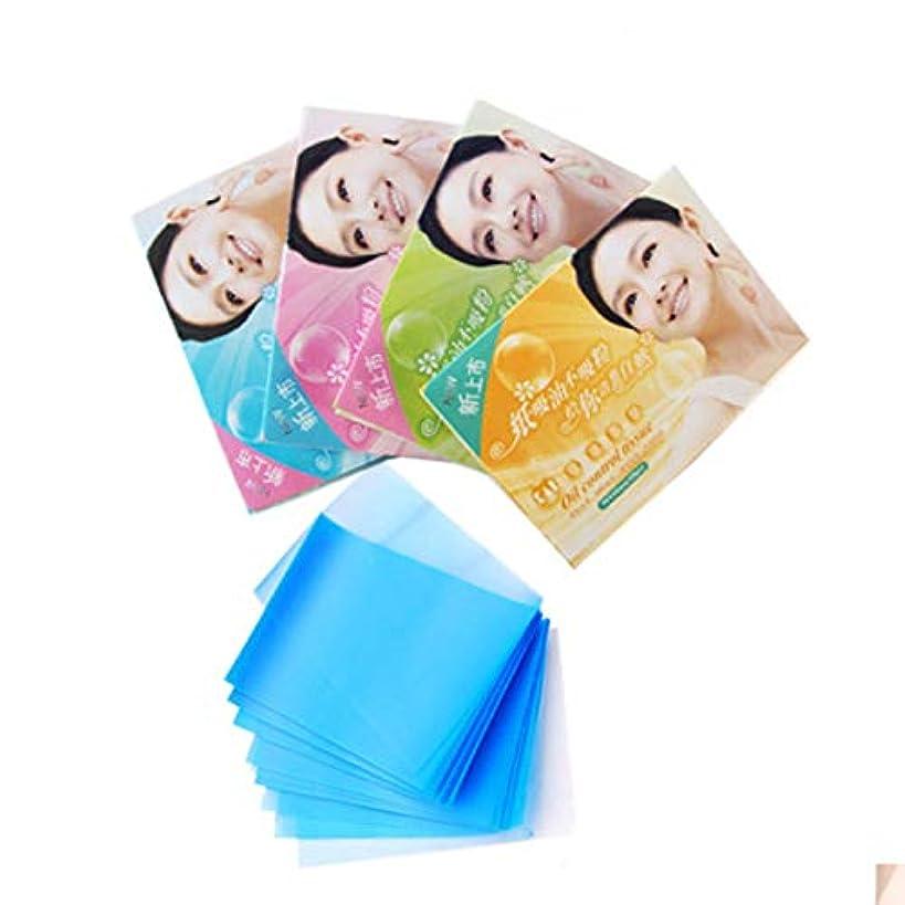 気性数値腸Quzama-JS 有益なメイクアップオイル吸い込み顔顔きれいな紙(None 1)