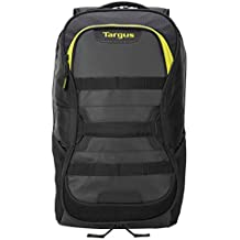Targus Large Commuter Work and Play Large Gym Fitness Backpack with Protective Sleeve for 15.6-Inch Laptop, Black/Yellow (TSB944AU)