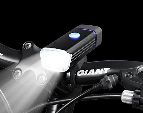 AMOTAIOS® LED自転車ヘッドライト 360°回転可能 CREEチップ USB充電 4種点灯モデル 高輝度 省エネ テールライト付き