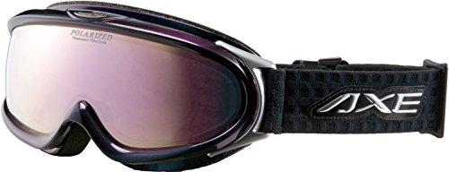 AXE(アックス) スキー・スノーボードゴーグル UVカット メンズ ハイスペック 偏光レンズ オーロラブラック×ピンクミラー AX888-WMP