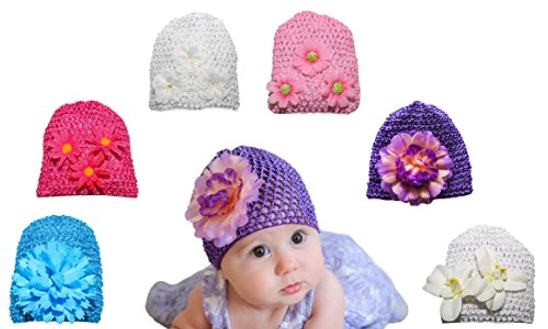 6パックベビー帽子 – 赤ちゃん女の子シャワーギフト – 新生児、、とTwins – 赤ちゃん写真プロップ – 新生児写真 – ベビー服