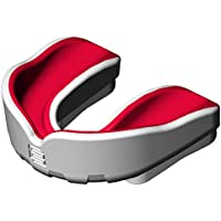(Red, Senior) - Makura Men's Ignis Pro Mouthguard-White/Blue, Junior