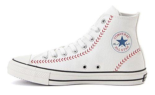 【限定モデル】 CONVERSE ALL STAR 100 BASEBALL HI ベースボール コンバース オールスター 100 ハイカット (7(25.5cm), ホワイト)