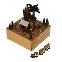 KESOTO オルゴール 音楽ボックス ミュージック ボックス インテリア プレゼント 癒しグッズ 森の汽車
