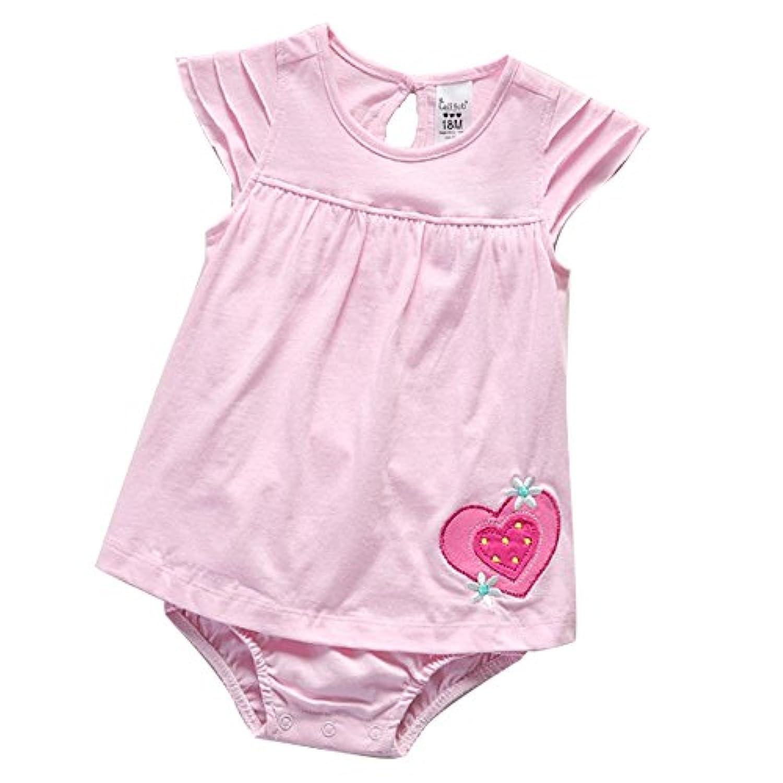 Hemoreベビー服 ロンパース かわいい 新生児サイズ 男の子と女の子通用 夏 無地 綿 カバーオール ワンピース 赤ちゃん 柔らかい おしゃれ あんよしはじめる ベビーロンパース