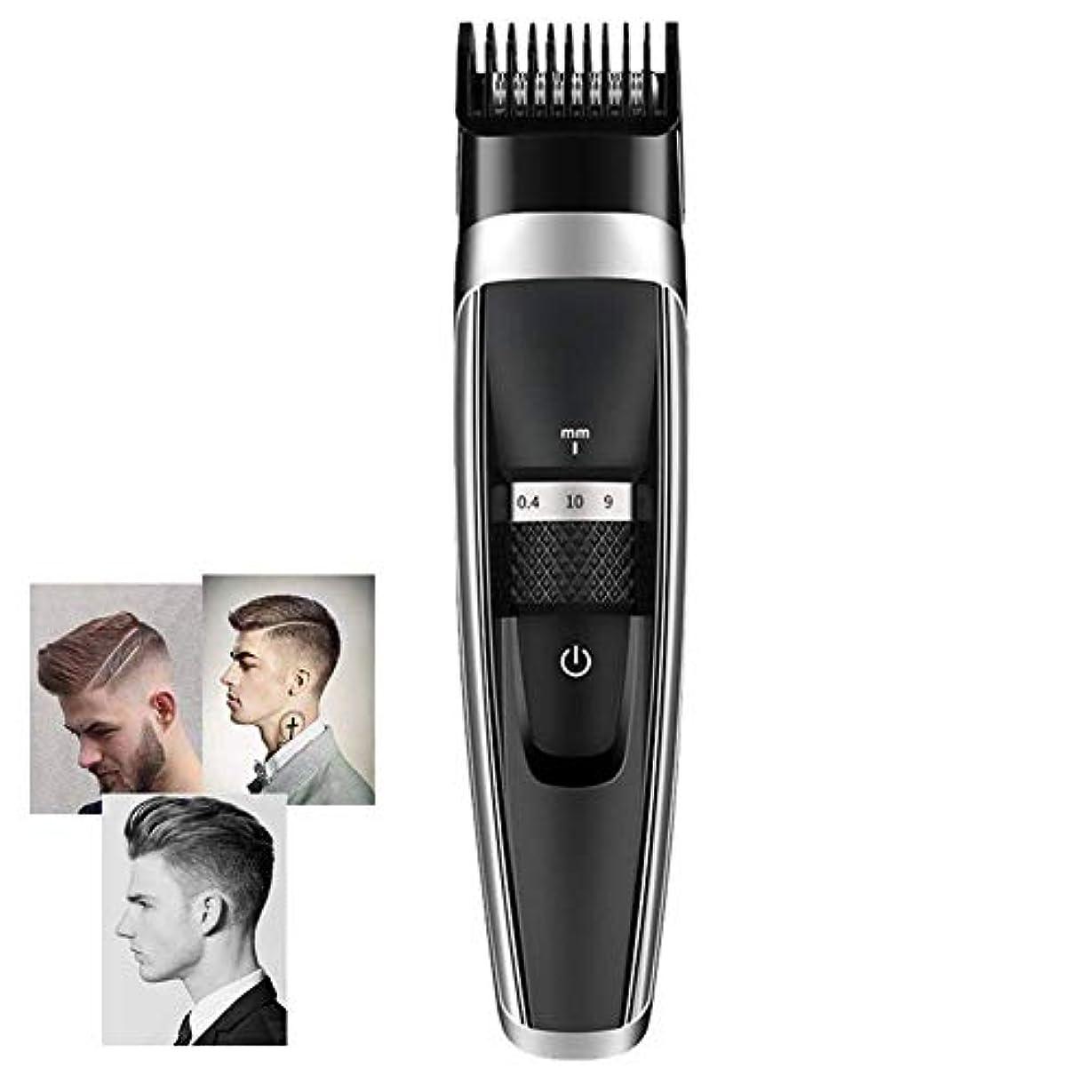 更新する乱雑なクロスバリカン男性Usbの再充電可能な専門のバリカンの低雑音の毛のトリマー、陶磁器の刃の携帯用美のバリカン