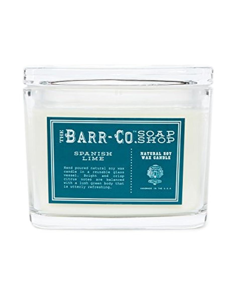 バー頭痛灰barr-coスペイン語ライム香り2-wick Jar Candle – Glass Jar