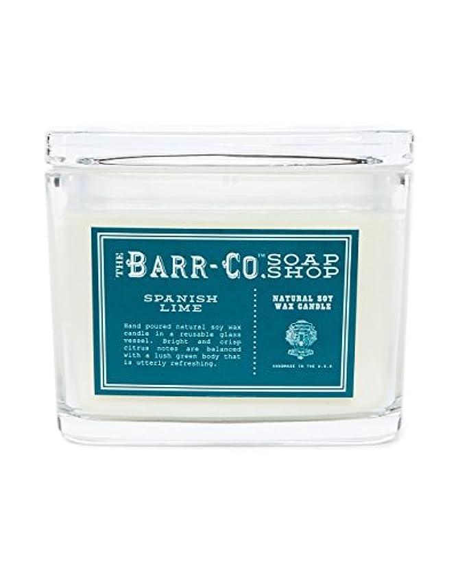 一般タイトル丁寧barr-coスペイン語ライム香り2-wick Jar Candle – Glass Jar