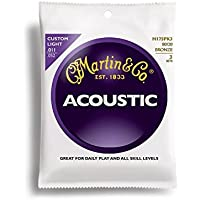 Martin アコースティックギター弦 ACOUSTIC (80/20 Bronze) Multi Packs M-175 PK3 Custom Light .011-.052