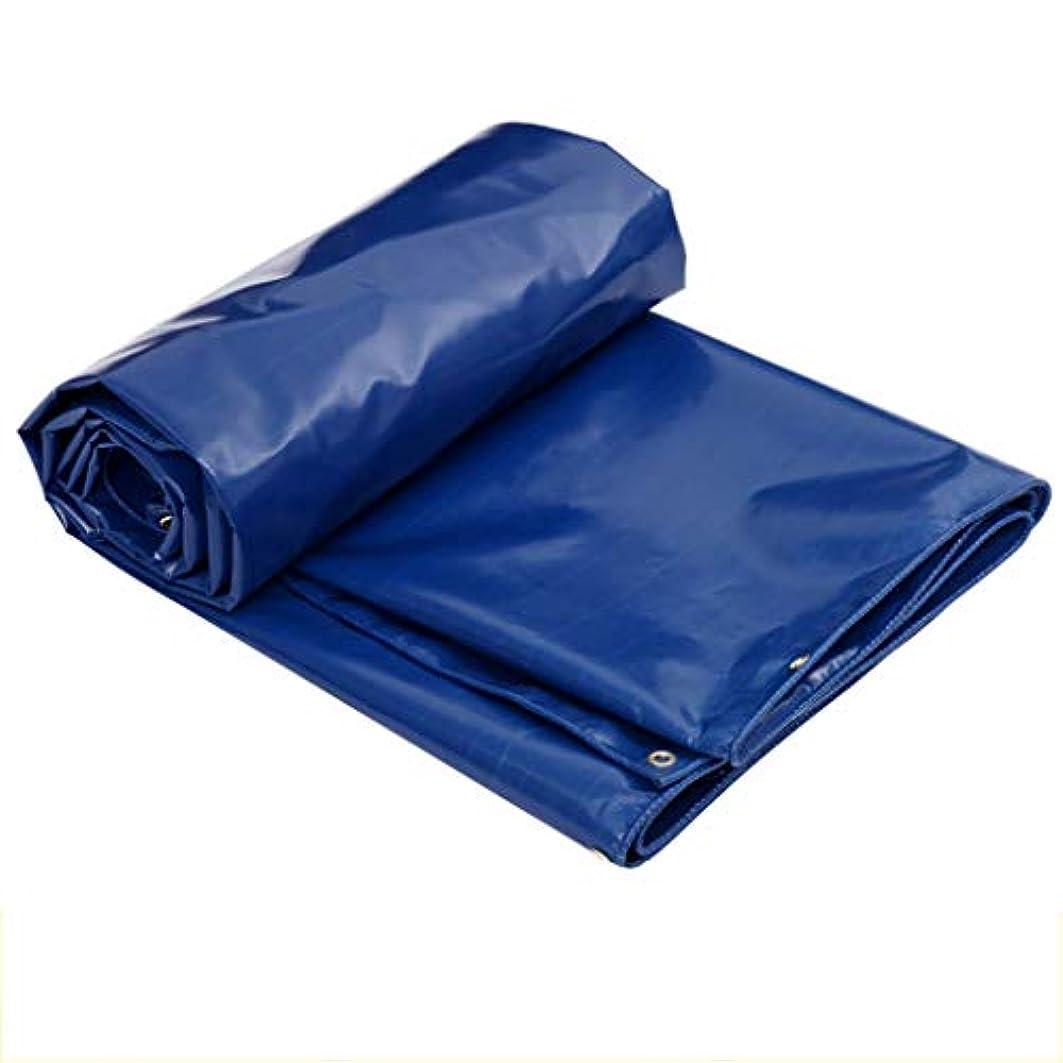 高層ビル突き出すクライアントタープ 防水Tarpsの頑丈な屋外の、青い防水シートポリ塩化ビニールの上塗を施してある布の反酸化の破損抵抗 テント (Color : Blue, Size : 4m×5m)