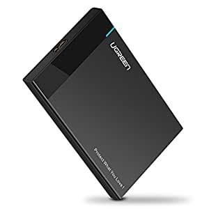 UGREEN 2.5インチ HDDケース USB3.0 SATAⅢ 9.5mm/7mm厚両対応 UASP対応 外付ハードディスクケース 簡単着脱 PC/テレビ/レコーダー/PS4 pro/ PS3/ XBox等適用 USB3.0ケーブル付属 東芝製、ウエスタンデジタル製 、日立製、バッファロー、Seagate、Samsung、Transcend等HDD/SSD対応 18ヶ月保証