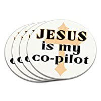 イエス私の副操縦士は、キリスト教のクロスコースターセット