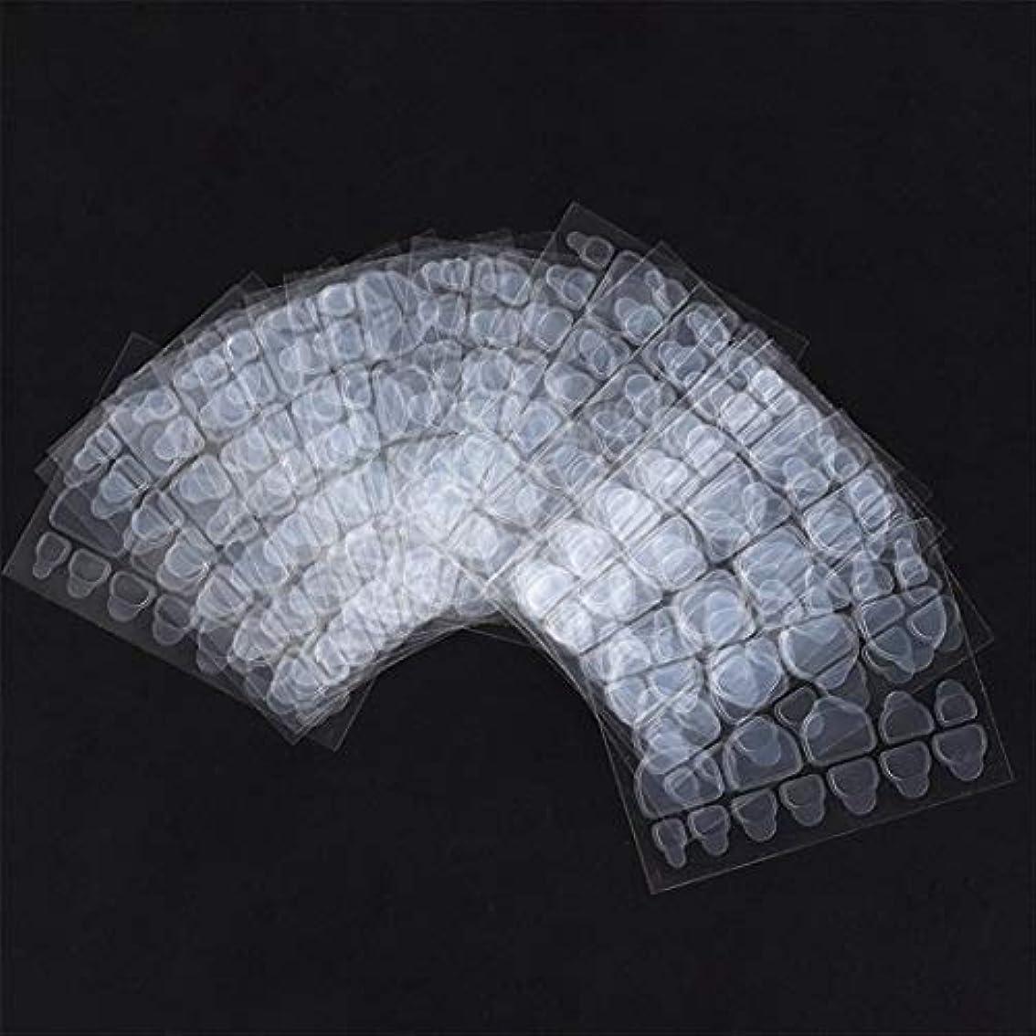 さびた海峡ひも準拠Wadachikis ノベルティ24 pcs/シートテープ偽爪ステッカー接着剤透明爪接着剤両面(None 10 pieces of nail jelly paste)