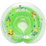 [stallion]ベビー浮き輪 赤ちゃんうきわリング 赤ちゃん うきわ 浮輪 リング 首浮輪 お風呂 水遊び プール スイム スイマー ベビー ベビーバス こども プレスイミング (グリーン)