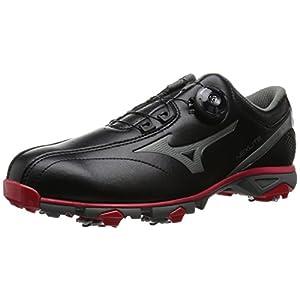 [ミズノゴルフ] ゴルフシューズ ネクスライト 003 ボア 09 ブラック×レッド 26.5 3E (現行モデル)