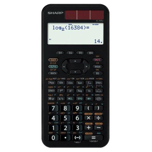 SHARP スタンダード関数電卓 ピタゴラス 384関数 ブラック系 EL-509J-BX