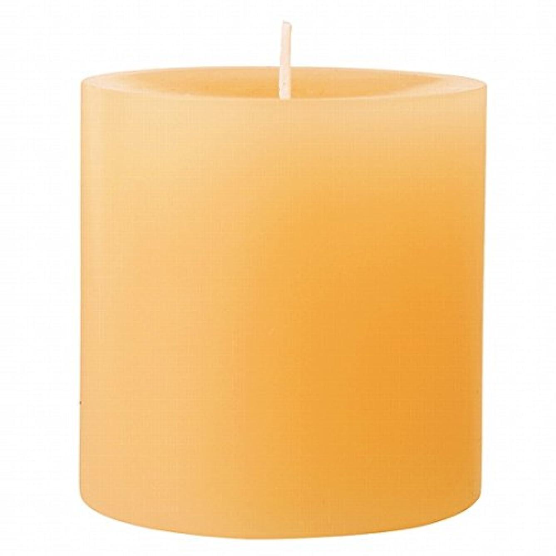 フリル昆虫を見る才能カメヤマキャンドル(kameyama candle) 75×75ピラーキャンドル 「 ベージュ 」