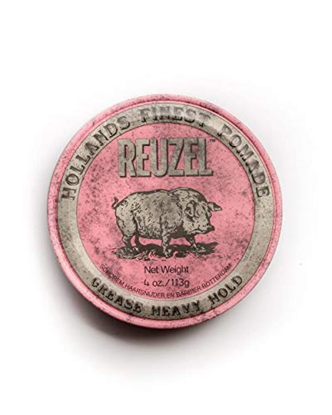 叙情的なカリング刃ルーゾー ピンク ヘヴィーホールド ポマード Reuzel Pink Heavy Hold Grease pomade 113 g [並行輸入品]