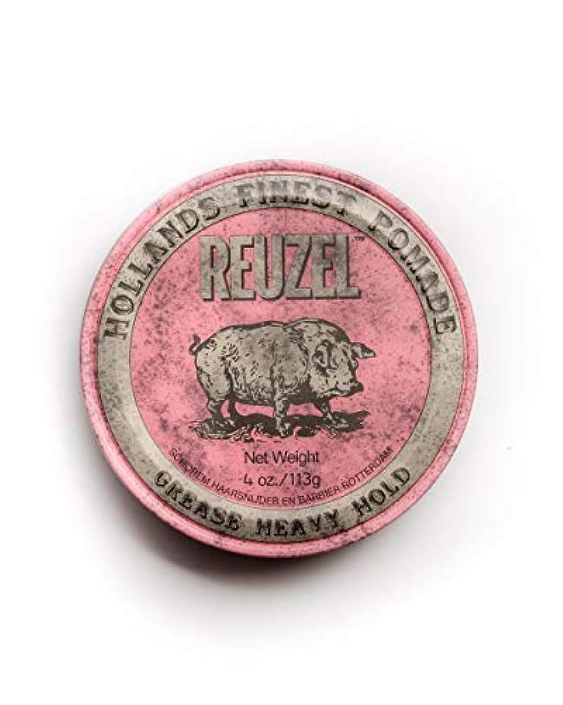 生む手伝う実験をするルーゾー ピンク ヘヴィーホールド ポマード Reuzel Pink Heavy Hold Grease pomade 113 g [並行輸入品]