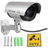 監視カメラ,SODIAL(R)フェイクダミーモック LED 家のセキュリティCCTV監視カメラ