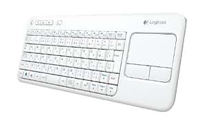 Logicool ロジクール ワイヤレス タッチキーボード K400r ホワイト