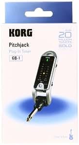 KORG プラグインチューナー pitchjack ピッチジャック ギター/ベース用 GB-1-BK ブラック