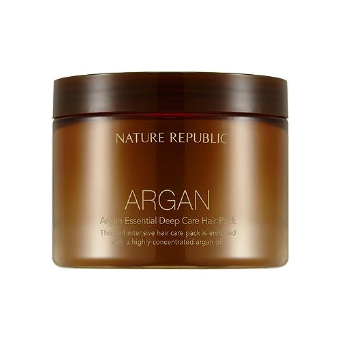 失望技術頬NATURE REPUBLIC Argan Essential Deep Care Hair Pack 470ml ネイチャーリパブリック アルガンエッセンシャルディープケアヘアパック 470ml [並行輸入品]