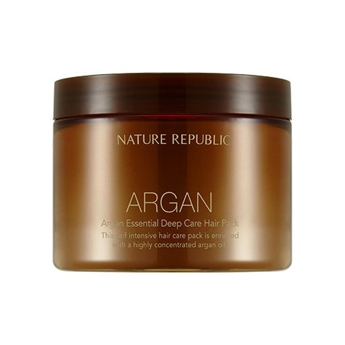 抑止する鼓舞する呼ぶNATURE REPUBLIC Argan Essential Deep Care Hair Pack 470ml ネイチャーリパブリック アルガンエッセンシャルディープケアヘアパック 470ml [並行輸入品]