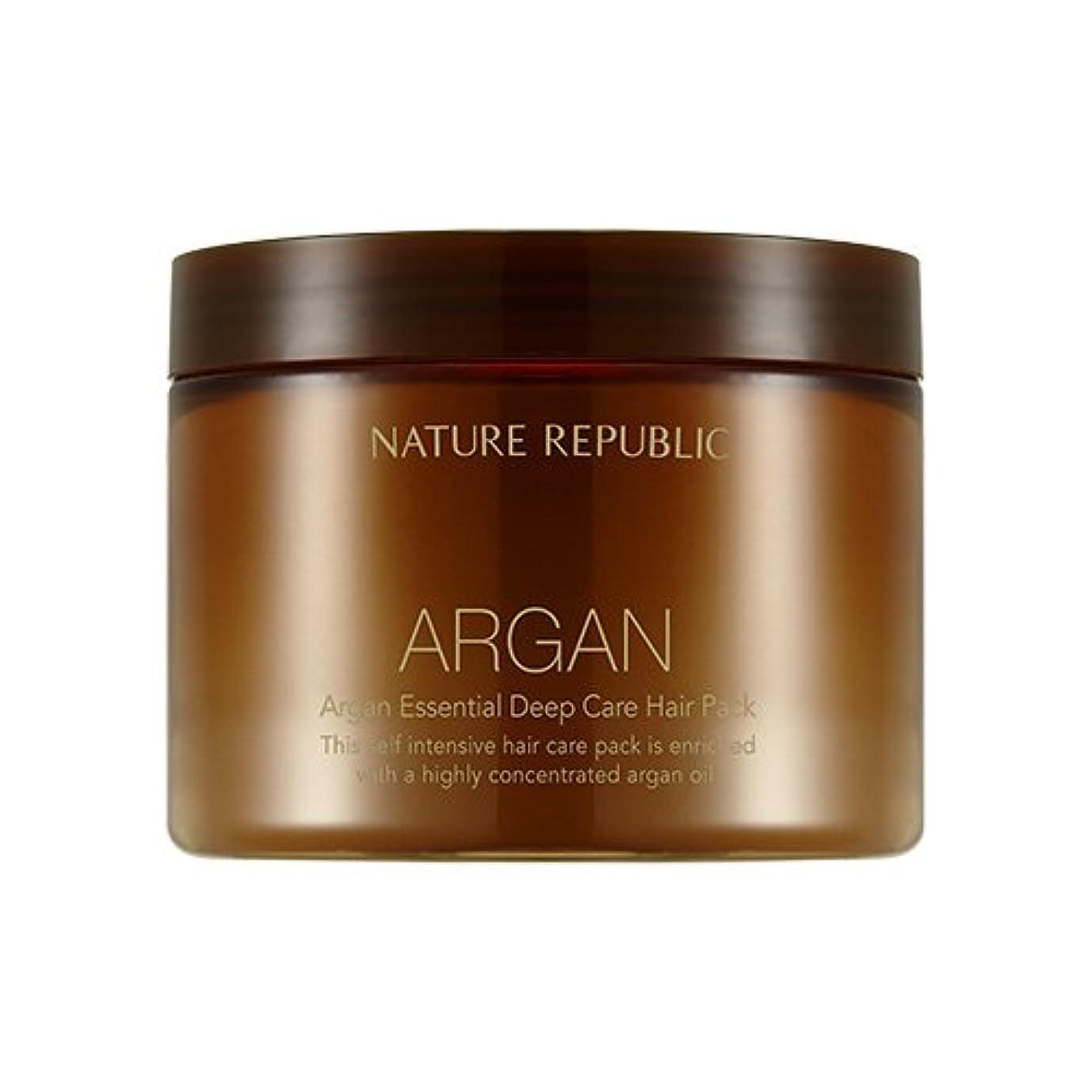 ゲート作動する熱狂的なNATURE REPUBLIC Argan Essential Deep Care Hair Pack 470ml ネイチャーリパブリック アルガンエッセンシャルディープケアヘアパック 470ml [並行輸入品]