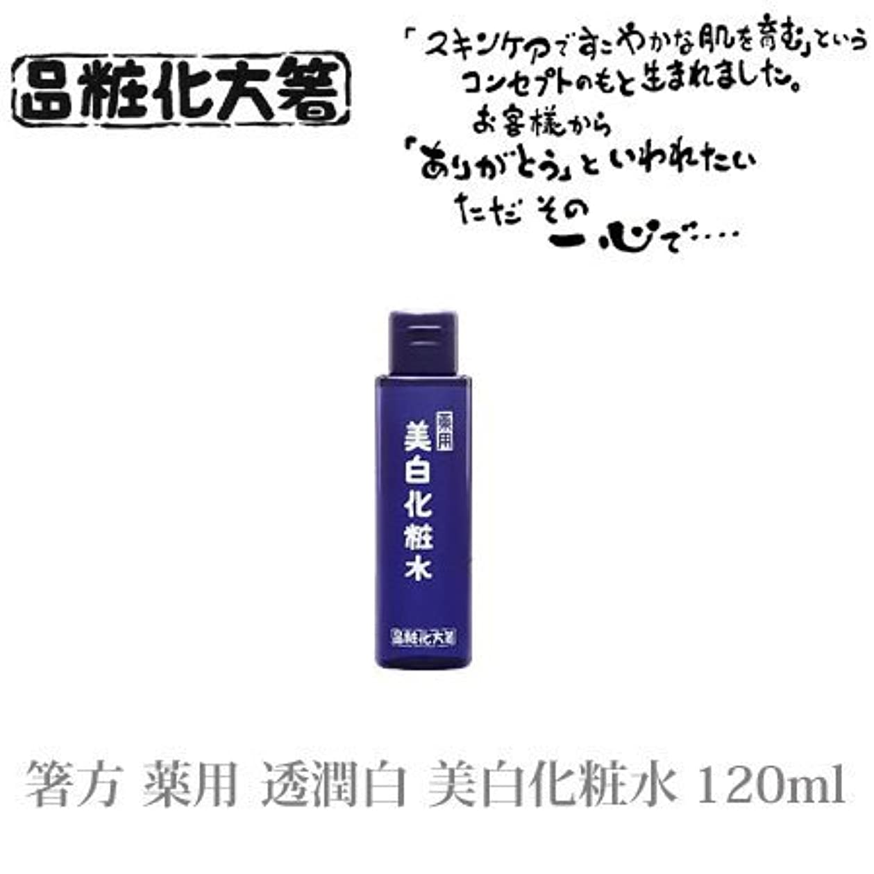 地質学水課す箸方化粧品 薬用 透潤白 美白化粧水 120ml はしかた化粧品
