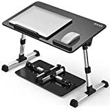 Besign Adjustable Latop Table, Portable Standing Bed Desk, Foldable Sofa Breakfast Tray, Notebook Computer Stand for Reading and Writing – Black Medium Size