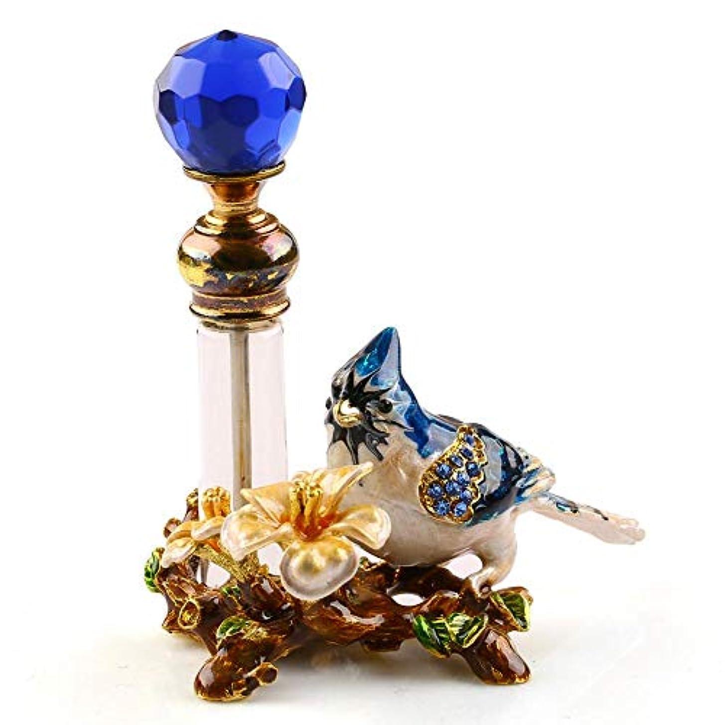 リード神聖ガラスVERY100 高品質 美しい香水瓶 4ML アロマボトル 綺麗アンティーク風 鳥と花 詰替用ボトル 空き プレゼント 結婚式 飾り